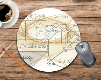 Mouse pad-Engineer gift-Gift for engineer-Geometric mouse pad-Mouse pad funny-Desk accessories-Chalkboard-Office supplies-Custom mouse pad