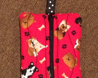 Clip On Zipper Pouch Case for Backpack, Purse, or Bag that Holds Money, Inhaler, Keys, Jump Drives, Hair Clips, Candy, License, Jewelry, Etc