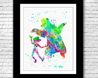 Jungle Book Baloo and Mowgli Dancing abstract - Buy 2 Get 1 FREE