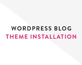 Wordpress Blog Theme Installation
