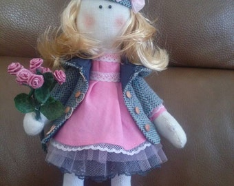 Decorative fabric doll