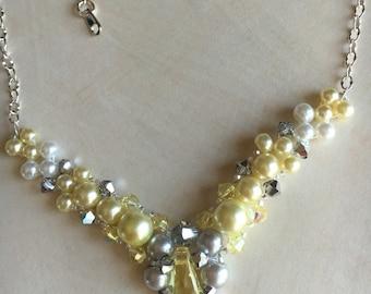 Lemon Meringue necklace and bracelet set, limited edition