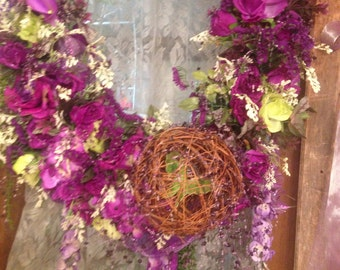 Hand-Made Spring Wreath