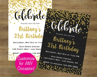 Adult birthday invitation Etsy