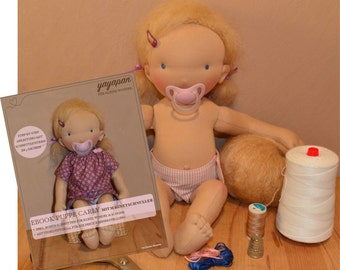 2-in-1 package ebook + material kit for Baby Doll Carly