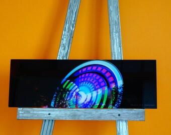Photo printed on plexiglass _ street fair carousel 20 * 60 - Panorama - Ferris wheel - boomax