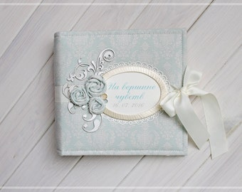 Wedding photo album, Pearl wedding anniversary, 30 wedding anniversary, Personalized wedding guest book, Wedding photo book, Scrapbook album