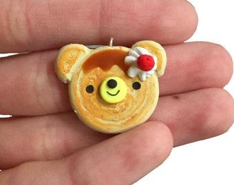Happy Pancake Bear Charm