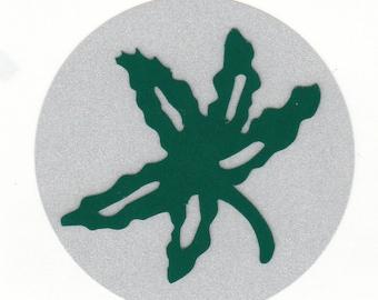 Reflective Ohio State Buckeye Leaf Award