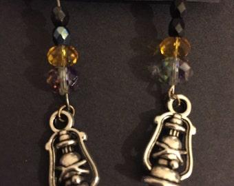 Oil lantern earrings