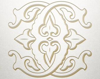 Wedding Initials Logo - CC - Wedding Initials - Vintage