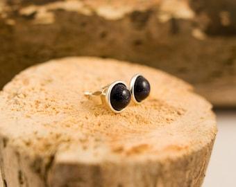 Blue Goldstone Sterling Silver Earrings