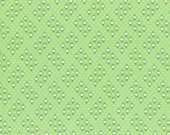 Light Green Small Geo Flower Print from the 1930's Child Smile Collection by Lecien Fabrics