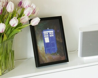 Dr. Who, space, Tardis, Handmade, picture, poster