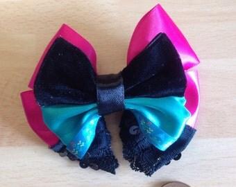 Elsa Coronation dress frozen mini hair bow