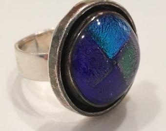Sterling Silver Modernist Ring ~ Hallmarked CII