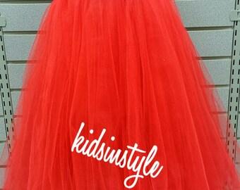 Red & White Flower Girl Dress, Christmas tutu, candy cane tutu dress, infant tutu,Baby Tutu, Toddler Tutu, Girl Tutu, kids tutu, tutu dress