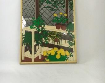 Vintage Garden Trellis Mirror / Palm Beach / Bohemian Modern
