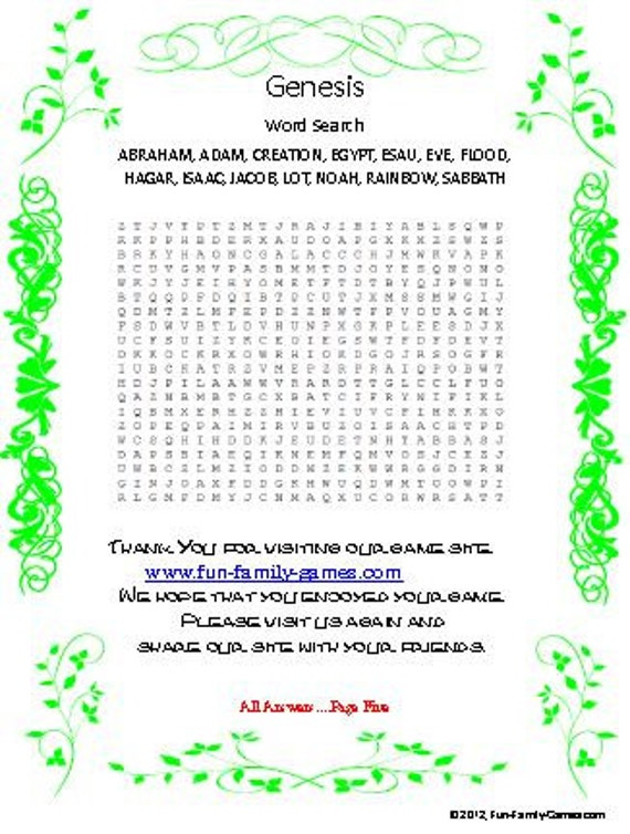 the book of genesis trivia questions by printabletriviagames