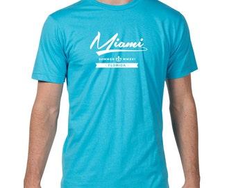 Miami Marlins, Miami Heat, Miami Dolphins, Miami T Shirt, Summer, Florida T Shirt, Miami Mens T Shirt, MIA Shirt, Miami Tee, Miami T-Shirt