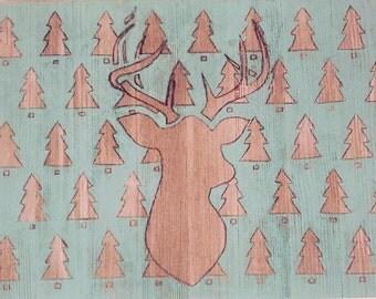 Deer wood painting #1