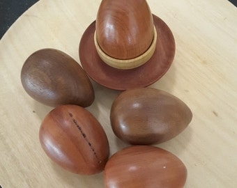 Wooden Eggs - Set of 3 eggs