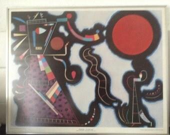 Kandinsky print - The red circle