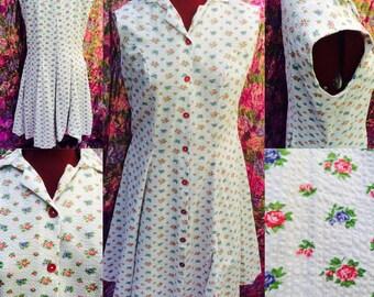Floral 50's tea dress