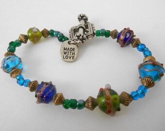 Bracelet Art Glass Beads