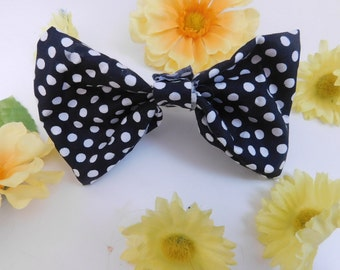 Black & White Polka Dot Bow