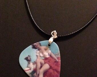 Pun-up Girl Guitar Pick Necklace