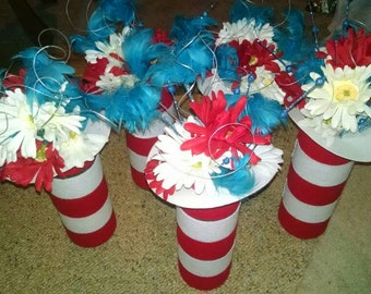 Set of 5 Dr. Seuss themed centerpieces!