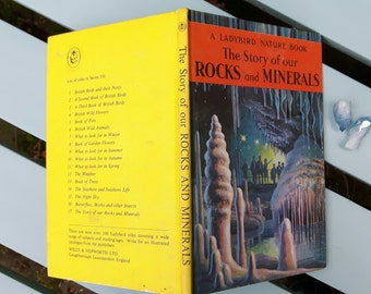 Vintage Ladybird Book Rocks and Minerals 1966