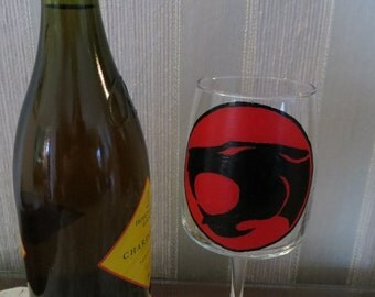 Thundercats inspired Wine Glass