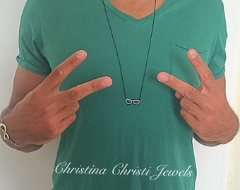 Gift for Men, Sunglasses Necklace, Men's Necklace, Glasses Necklace, Men's Pendant,