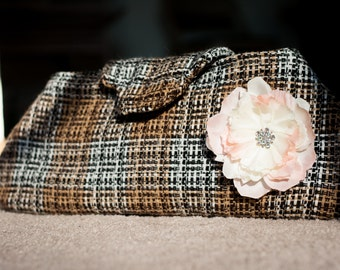 Wool Plaid Clutch