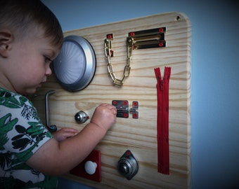 Toddler Busy Board, Toddler Learning Toy, Sensory Toy, Toddler Birthday Gift, Christmas gift
