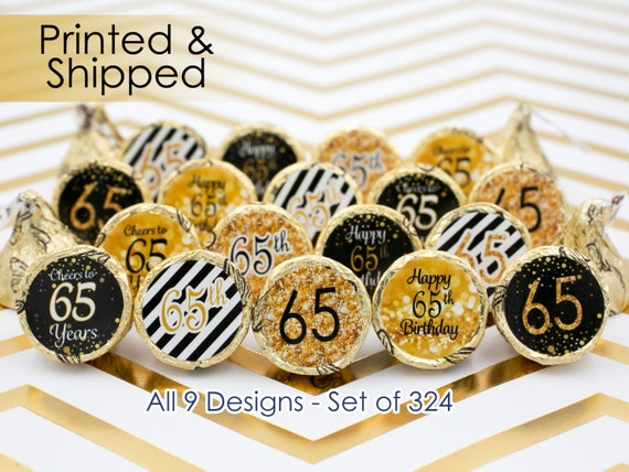 65th birthday party decorations gold black by distinctivs for 65th birthday party decoration ideas