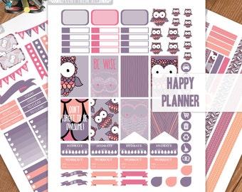 Bird, OWL Planner Stickers Printable, HAPPY PLANNER Sticker, Monthly/Weekly Kit, Printable Sampler, Happy Planner kit, Instant Download