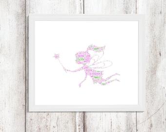 Fairy -Framed Personalised Print