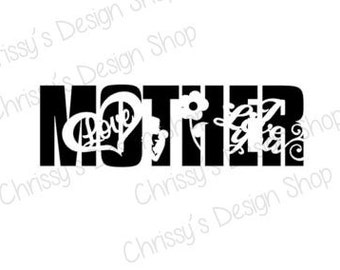 Mother Knockout design  SVG download for Silhouette in Studio3 download / Mothers day SVG download / Mothers day vinyl crafting for decals