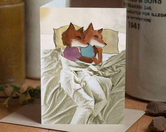 Spooning [Greetings Card]
