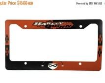 "SALE Harley Quinn Aluminum 6"" x 12"" License Plate Frame"