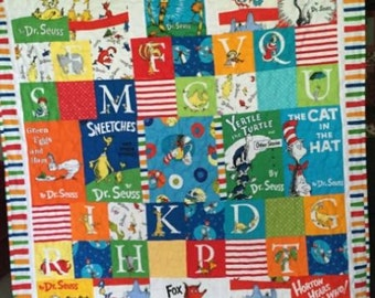 Custom Dr Suess Quilt for baby or Toddler