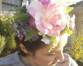 Flower Crown Fascinator Headband