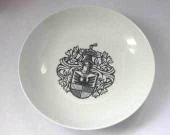 Decorative Plate Furstenberg West Germany Stadt Hildesheim Wappen Von 1528