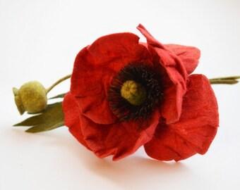Brooch Poppy