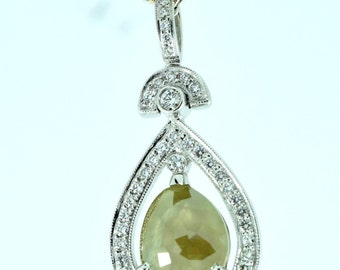 Olive Tear Drop Pendant