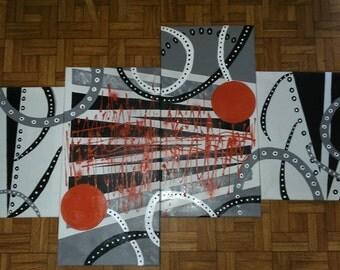Handmade abstract paintings