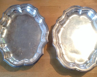 Two Silver Plated Dishes/Trays